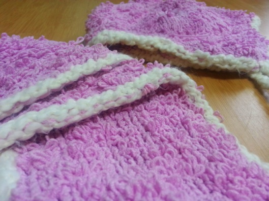 pink loopy scarf